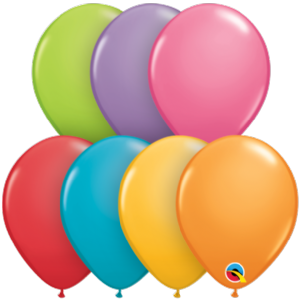 "5 inch Festive Assortment Balloons - Qualatex 5"" Balloons 100pcs 